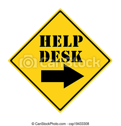Help Desk that way Sign - csp19433308