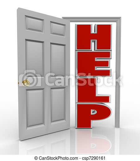 Help Door Opening to Support and Assistance - csp7290161