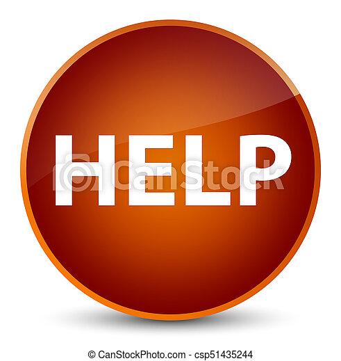 Help elegant brown round button - csp51435244