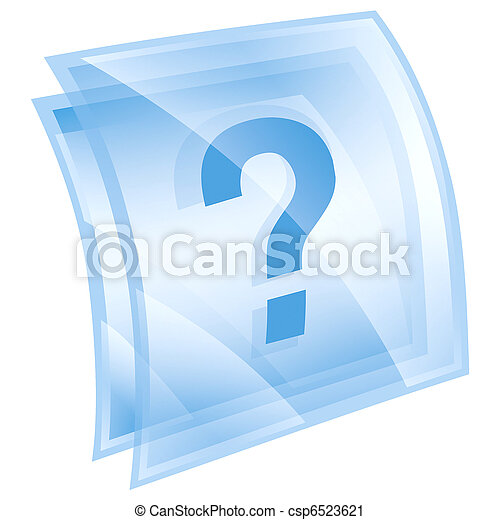 Help icon blue, isolated on white background - csp6523621