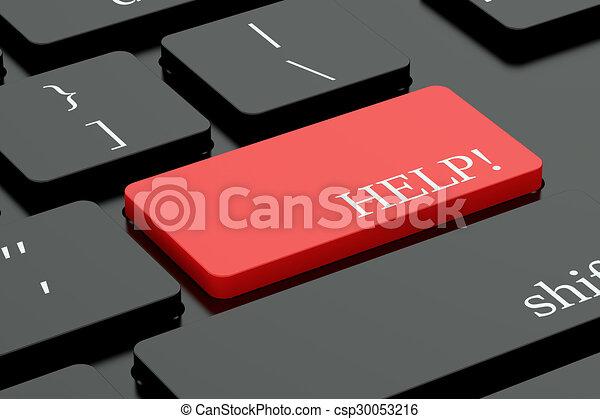 Help keyboard button - csp30053216