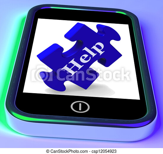 Help On Smartphone Shows Advice - csp12054923