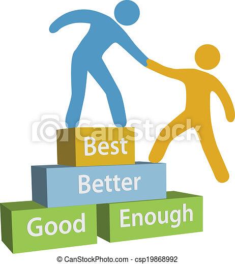 Help people good better best achievement - csp19868992