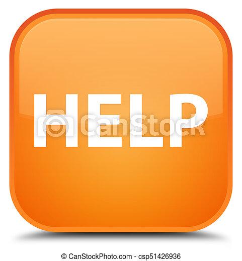 Help special orange square button - csp51426936