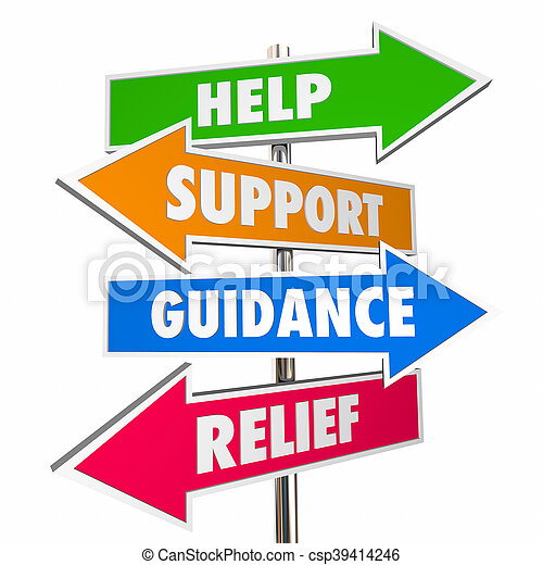 help support guidance relief assistance words signs 3d stock rh canstockphoto com technical support clipart tech support clip art