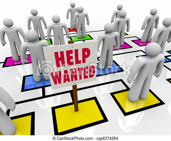 Help Wanted - Get a Job in Open Position - csp6374284