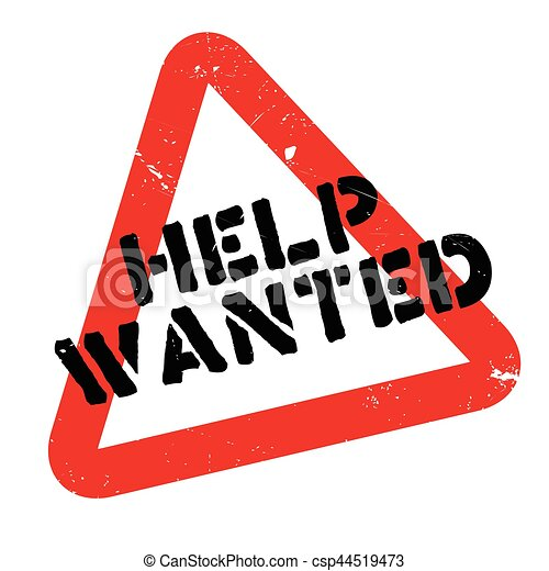 help wanted rubber stamp grunge design with dust scratches rh canstockphoto ie