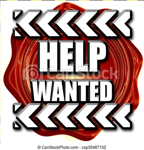 help wanted sign with some smooth lines stock illustration search rh canstockphoto com
