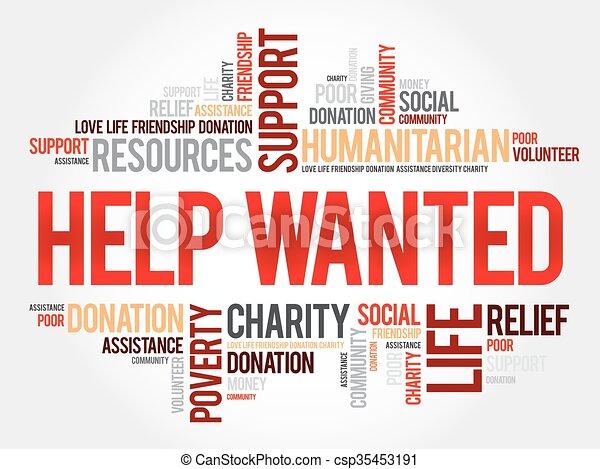 Help Wanted word cloud - csp35453191
