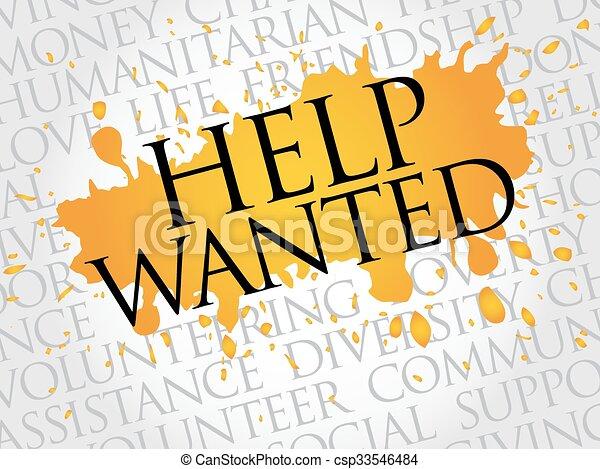 Help Wanted word cloud - csp33546484