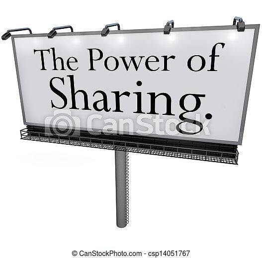 helpen, mogendheid splitsend, boodschap, anderen, buitenreclame, geven, doneren - csp14051767