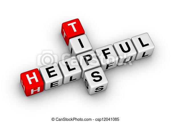 helpful tips - csp12041085