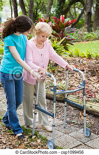 Helping Grandma - csp1099456