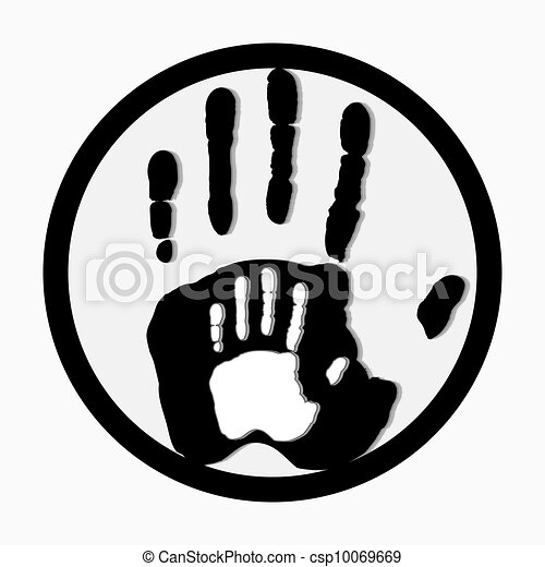 Helping hands. Adult Care about child.greeting. Vector illustration. - csp10069669