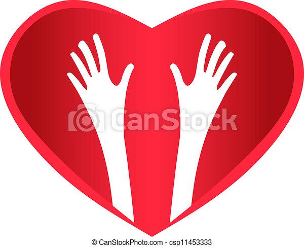 Helping Hands Heart - csp11453333