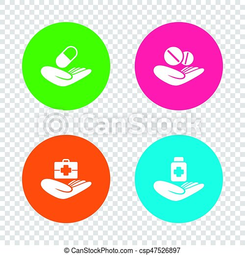 Helping Hands Icons Medical Health Insurance Helping Hands Icons
