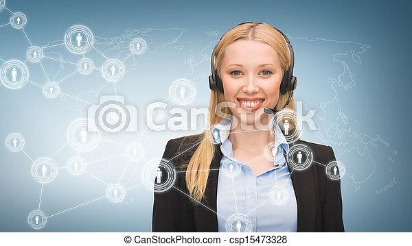 helpline operator and virtual screen - csp15473328