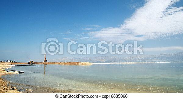 hely, ipari, tenger, holt - csp16835066