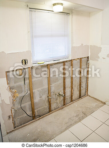 helyettesít, mouldy, drywall - csp1204686