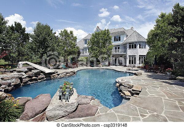 hem, lyxvara, slå samman, simning - csp3319148