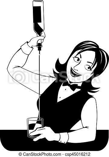 Camarera trabajando - csp45016212