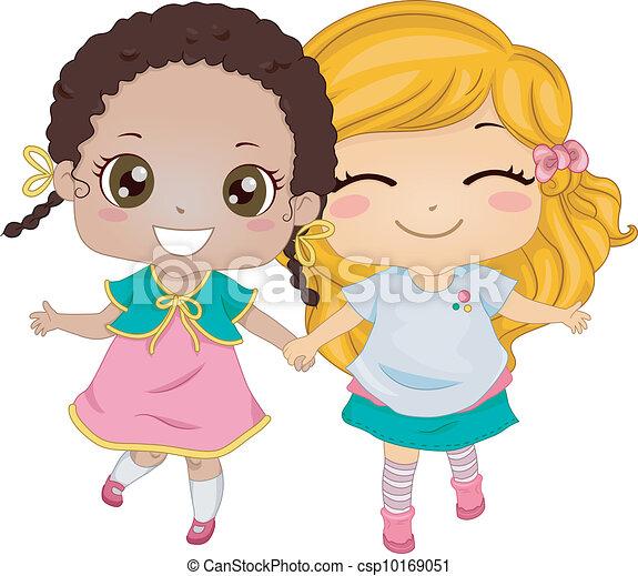 Mejores Amigos Ilustraciones Y Clipart 8797 Mejores Amigos