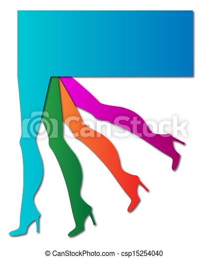 Piernas femeninas - csp15254040