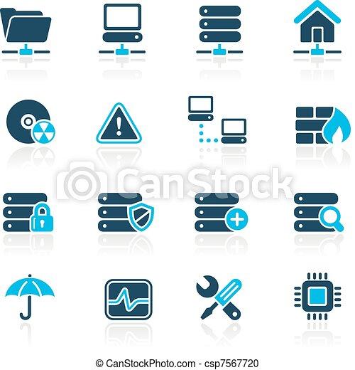 hemelsblauw, hosting/, netwerk, kelner, & - csp7567720