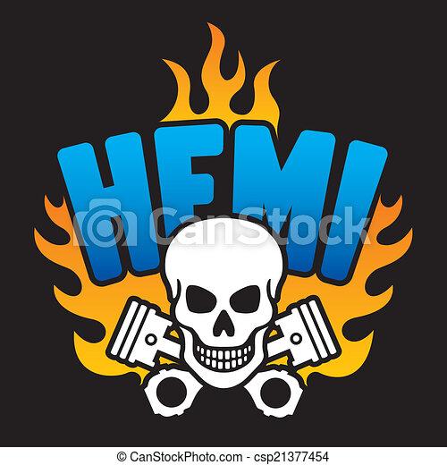 Hemi Skull and Pistons