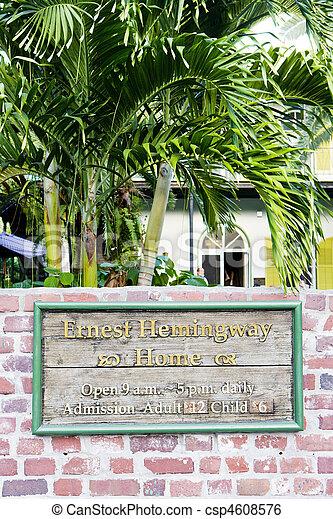 Hemingway House, Key West - csp4608576