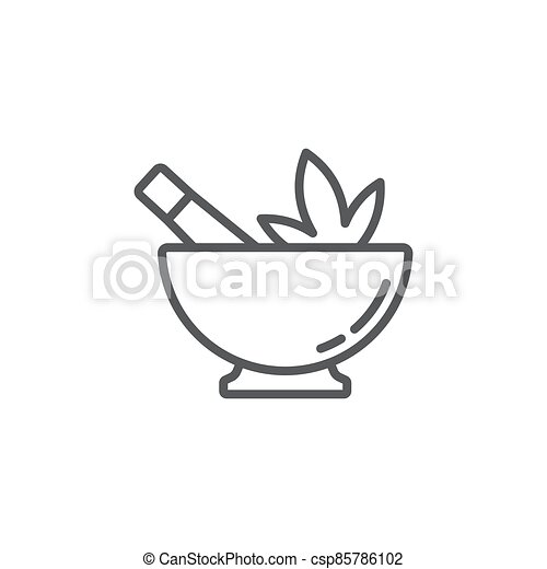 Hemp bowl vector icon symbol isolated on white background - csp85786102