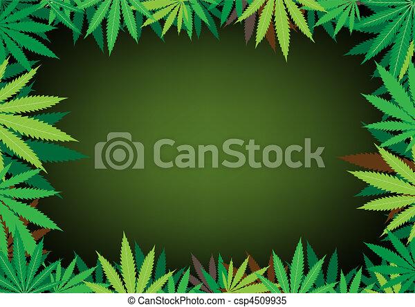 hemp dark background - csp4509935