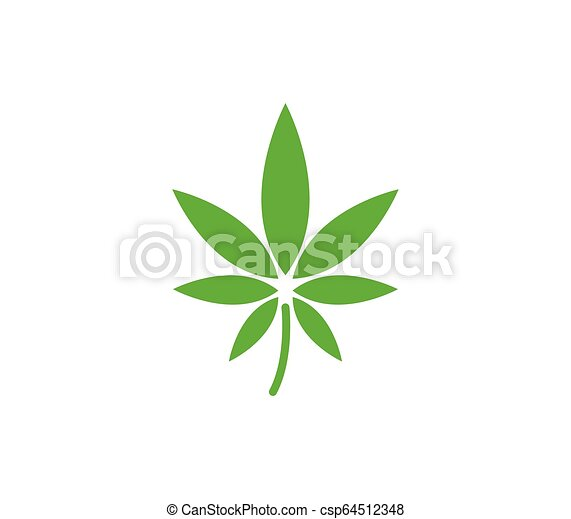 hemp icon on white background - csp64512348