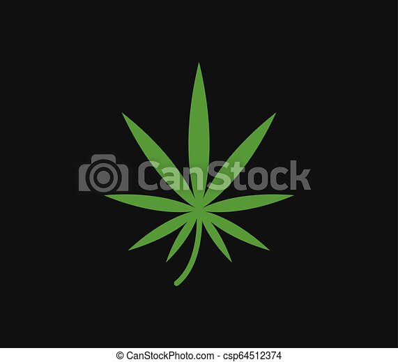 hemp icon on white background - csp64512374