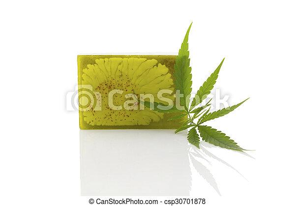 Hemp soap. - csp30701878