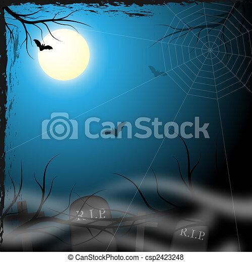 hemsökt av spöken, design, bakgrund - csp2423248