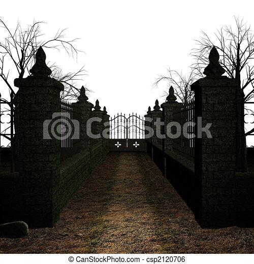 hemsökt av spöken, kyrkogård - csp2120706