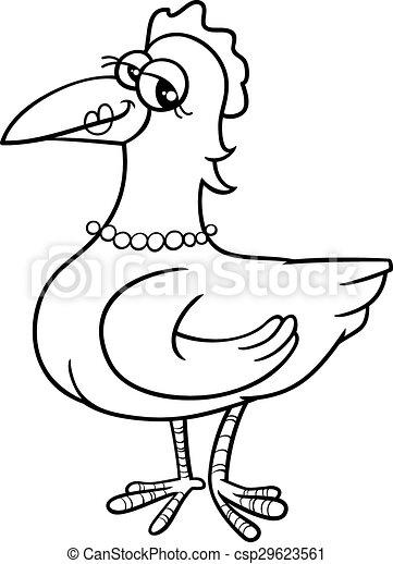 Hen Bird Coloring Book
