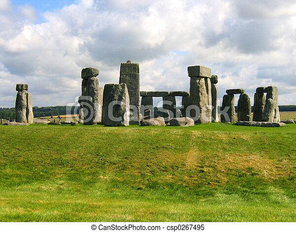 henge, pietra, inghilterra - csp0267495