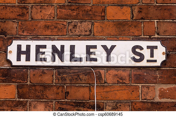 Henley street name sign in stratford-upon-avon, uk. Henley ...