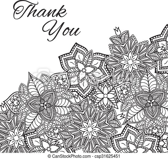 Henna Flowers Mehndi Design Vector Element With Text Place For