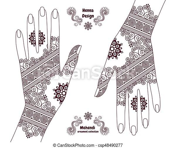 henna hands background henna tattoo hands background mehendi rh canstockphoto com Adult Coloring Vector Henna Wallpaper