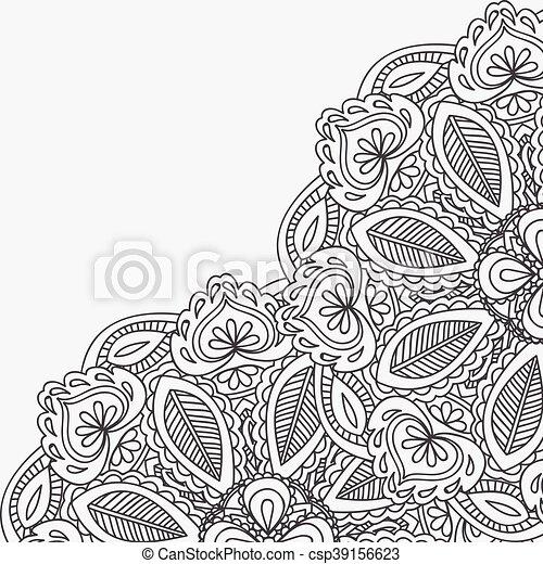 Henna Mehndi Card Template Mehndi Invitation Design Element For
