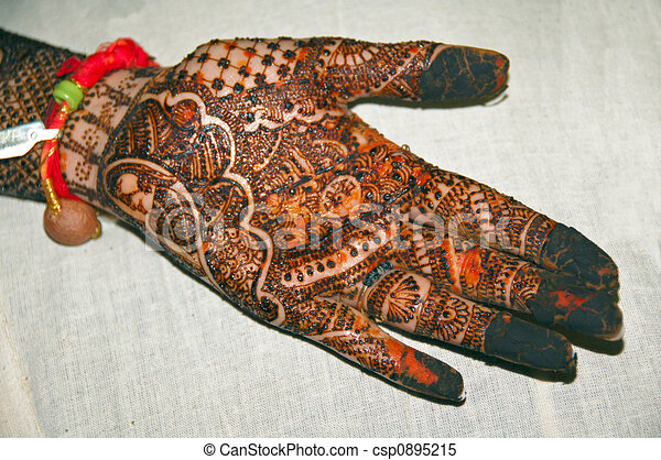 Henna Mehndi Vector : Henna tattoo on hands stock illustrations search clipart drawings