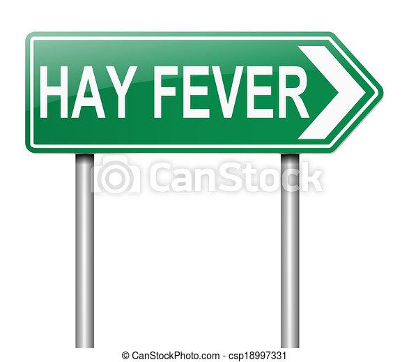 El concepto de fiebre del heno. - csp18997331