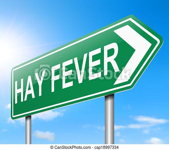 El concepto de fiebre del heno. - csp18997334
