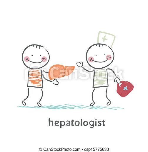 hepatologist cured patient liver - csp15775633