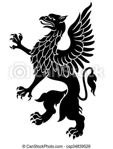 Heraldo Griffin negro - csp34839529