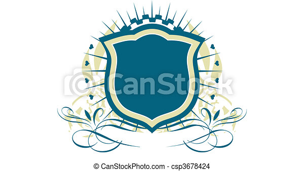 Escudo heráldico - csp3678424