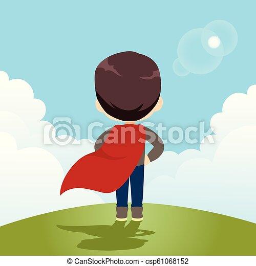 herói super, menino - csp61068152
